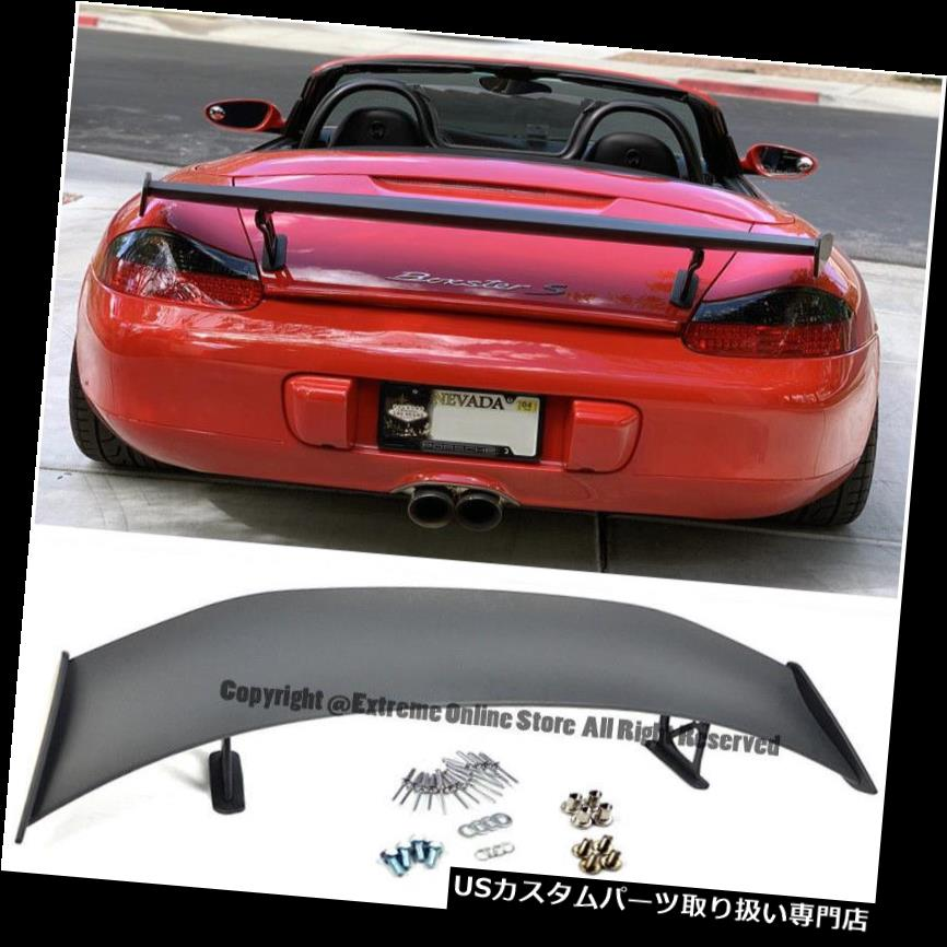 GTウィング 13-16ポルシェ981ケイマンボクスター用GT4スタイルPRIMEREDリアトランクウイングスポイラー GT4 Style PRIMERED Rear Trunk Wing Spoiler For 13-16 Porsche 981 Cayman Boxster