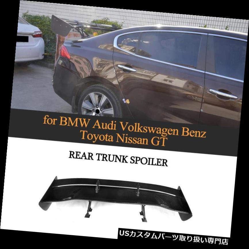 GTウィング カーボンファイバーユニバーサルブラックGTウイングリアトランクスポイラーウイングW176 W117 W205 Carbon Fiber Universal Black GT Wing Rear Trunk Spoiler Wing For W176 W117 W205