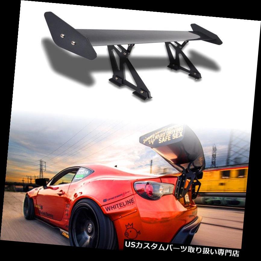 GTウィング ユニバーサルカーアルミ調整可能な軽量GTリアレーシングスポイラーウイングブラック Universal Car Aluminum Adjustable Light Weight GT Rear Racing Spoiler Wing Black