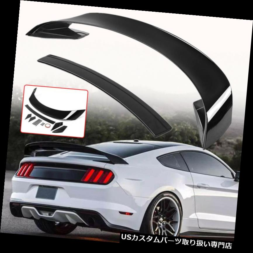 GTウィング フォードマスタング2015-2017 GT350の塗装光沢のある黒いトランクスポイラーウイング Painted Glossy Black Trunk Spoiler Wing For Ford Mustang 2015-2017 GT350