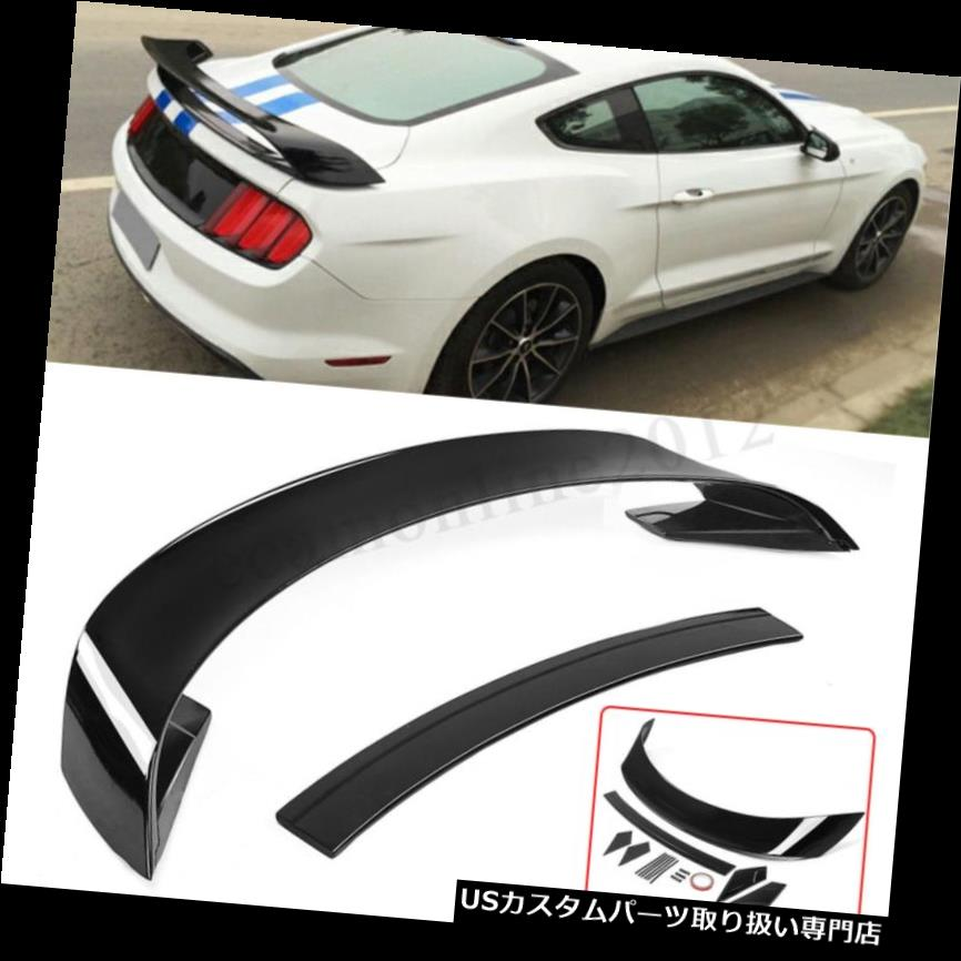 GTウィング フォードマスタング2015-17 GT350スタイル塗装光沢のある黒いトランクスポイラーウイングB用 For Ford Mustang 2015-17 GT350 Style Painted Glossy Black Trunk Spoiler Wing B