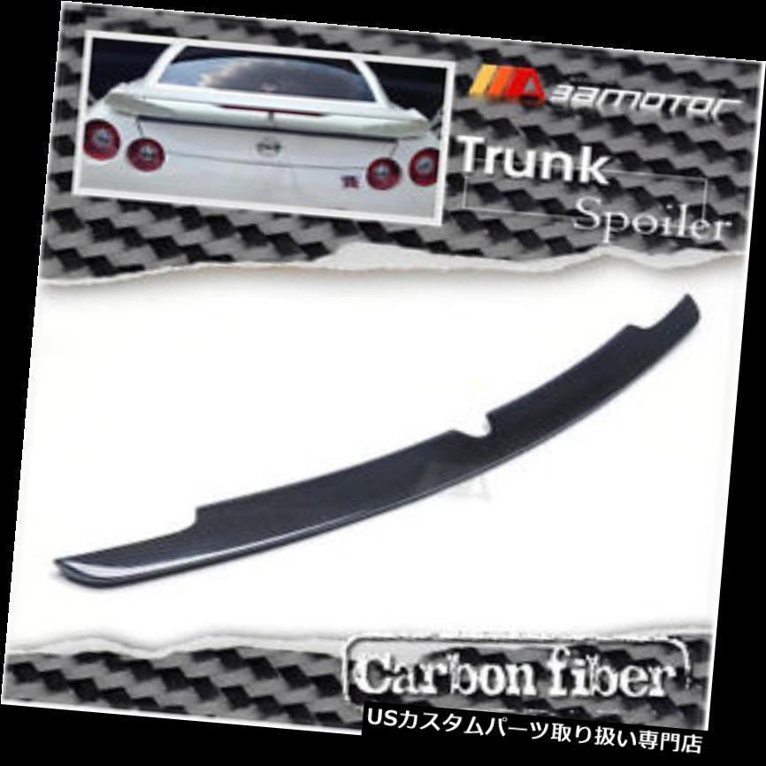 GTウィング 日産スカイラインGTR GT-R R35 R-35用カーボンファイバーブーツリップトランクスポイラーウイング Carbon Fiber Boot Lip Trunk Spoiler Wing for Nissan Skyline GTR GT-R R35 R-35