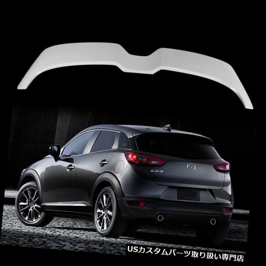 GTウィング マツダCX-3 CX3ハッチバック16-18 GX GT Unpaint用D型リアトランクスポイラーウイング D Type Rear Trunk Spoiler Wing For Mazda CX-3 CX3 Hatchback 16-18 GX GT Unpaint