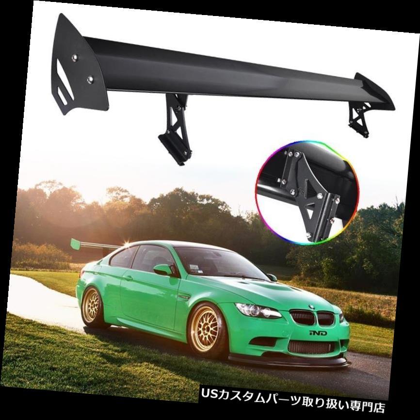 GTウィング ユニバーサル調整可能なアルミニウムレーシングリアトランクGTウイングスポイラーブラック新しい Universal Adjustable Aluminum Rracing Rear Trunk GT Wing Spolier Black New
