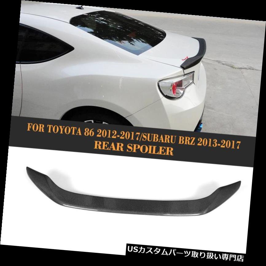 GTウィング トヨタGT86 12-17スバルBRZ 13-17用1PCリアスポイラーウイングカーボンファイバーフィット 1PC Rear Spoiler Wing Carbon Fiber Fit for Toyota GT86 12-17 Subaru BRZ 13-17
