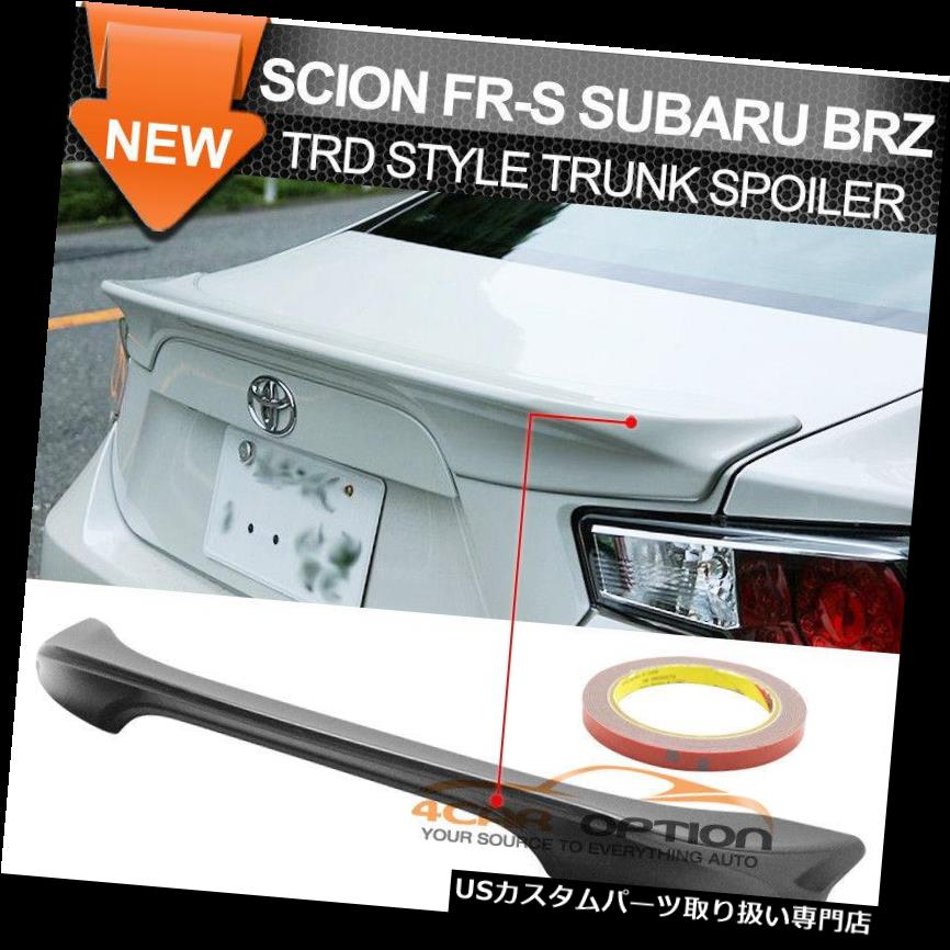 GTウィング サイオンFR-S FRS 13-17トヨタGT86スバルBRZリアABSトランクスポイラーウイング用フィット Fit For Scion FR-S FRS 13-17 Toyota GT86 Subaru BRZ Rear ABS Trunk Spoiler Wing