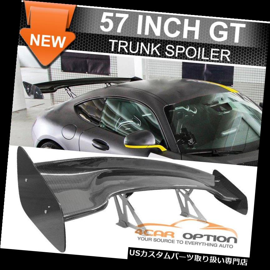 GTウィング 日産57インチ3-D GT JDMリアルカーボンファイバーデッキトランクスポイラーウィングにフィット Fit Nissan 57 Inch 3-D GT JDM Real Carbon Fiber Deck Trunk Spoiler Wing