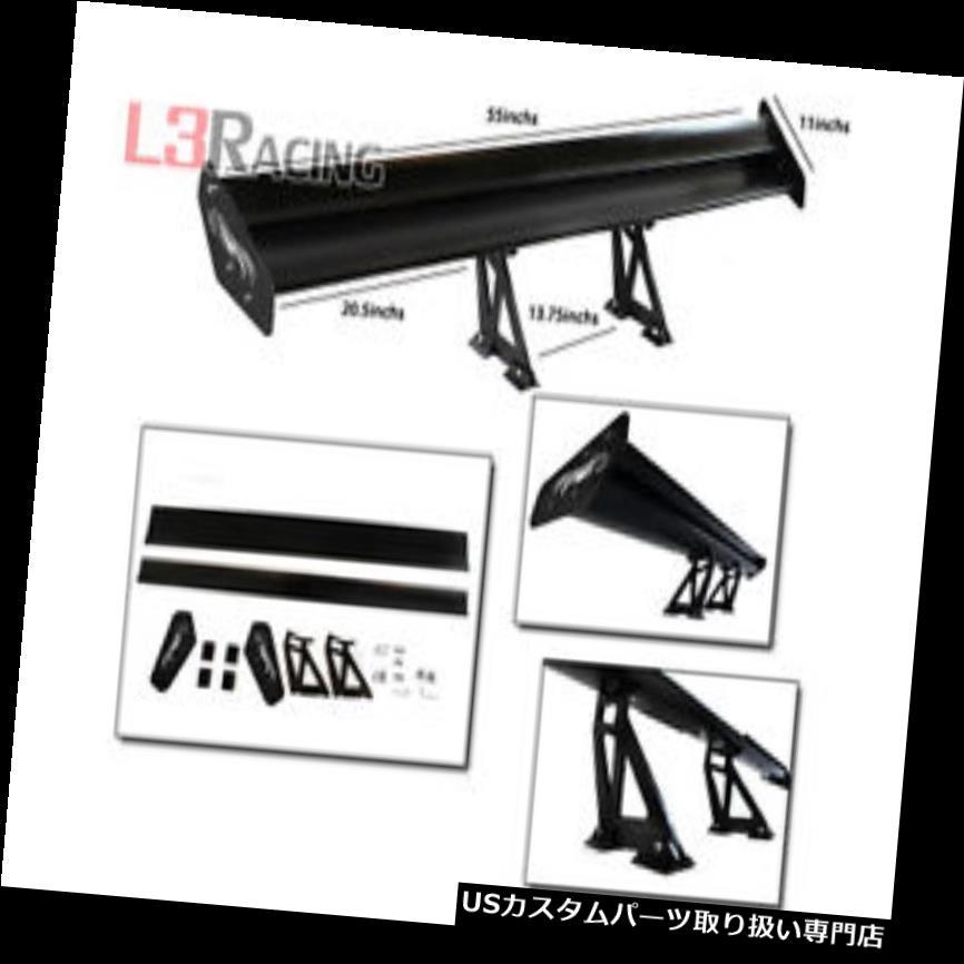 GTウィング RTUNES RACING GTタイプVブラック調節可能なアルミスポイラーウィング(三菱用) RTUNES RACING GT Type V BLACK Adjustable Aluminum Spoiler Wing For Mitsubi