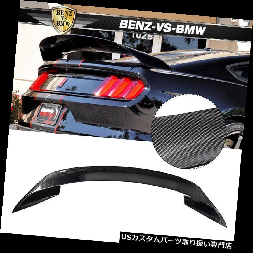 GTウィング 15-19フォードマスタングGT350RスタイルリアトランクスポイラーカーボンファイバーCFにフィット Fits 15-19 Ford Mustang GT350R Style Rear Trunk Spoiler Carbon Fiber CF