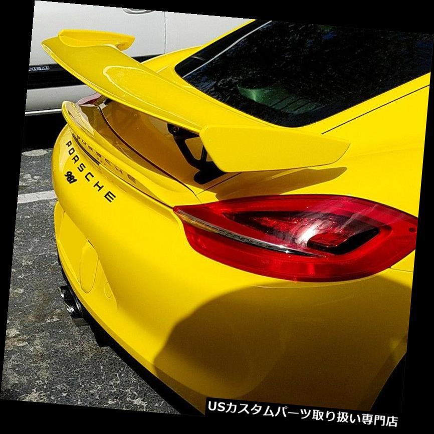 GTウィング 2013-2016ポルシェケイマン981 GT4デュアルウィングスポイラーパッケージ(未塗装) 2013-2016 Porsche Cayman 981 GT4 Dual Wing Spoiler Package (UNPAINTED)