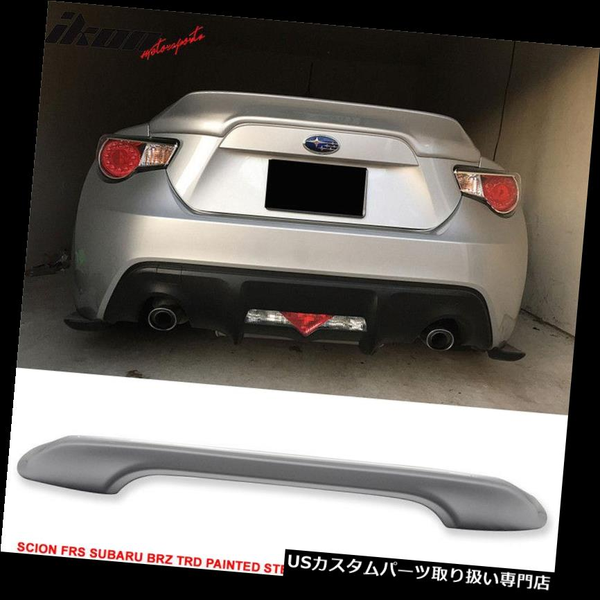 GTウィング 13-14サイオンFRS BRZトランクスポイラー塗装スターリングシルバーArgento#D6Sにフィット Fits 13-14 Scion FRS BRZ Trunk Spoiler Painted Sterling Silver Argento #D6S
