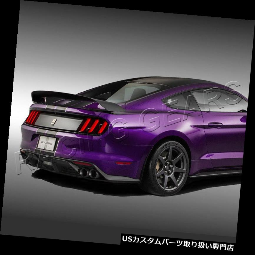 GTウィング フィットフォードマスタングカップペイントブラックGT350 GT350Rスタイルリアトランクスポイラーウィング FIT FORD MUSTANG COUPE PAINTED BLACK GT350 GT350R STYLE REAR TRUNK SPOILER WING