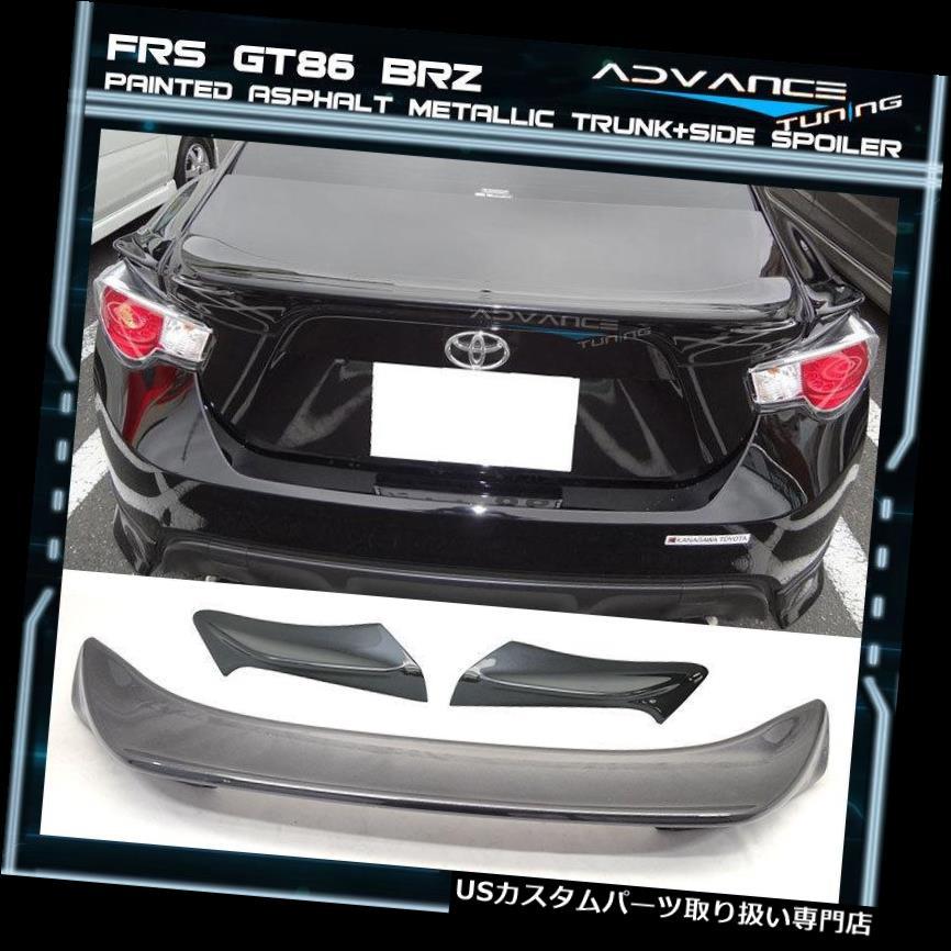 GTウィング フィット13-17 BRZ FRS塗装#61K TRDトランクスポイラー+サイドスポイラーウイングABS Fits 13-17 BRZ FRS Painted # 61K TRD Trunk Spoiler + Side Spoiler Wing ABS
