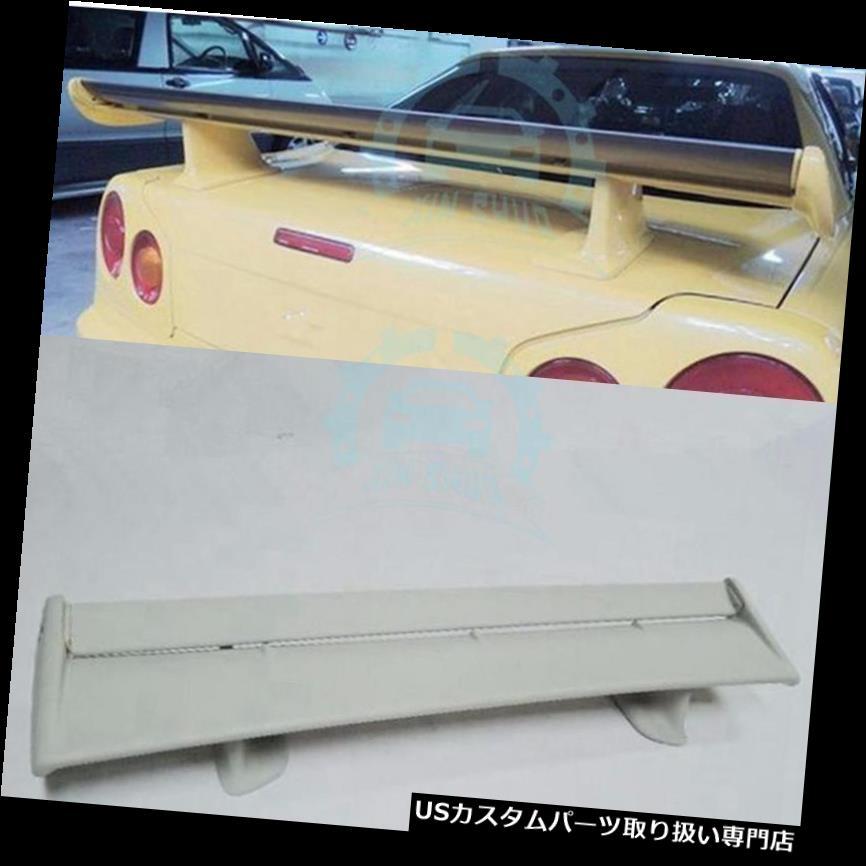 GTウィング 日産スカイラインR34 GTT R33 GTS R32 350GTリアウイングトランクスポイラーグラスファイバー用 For Nissan Skyline R34 GTT R33 GTS R32 350GT Rear Wing Trunk Spoiler Fiberglass