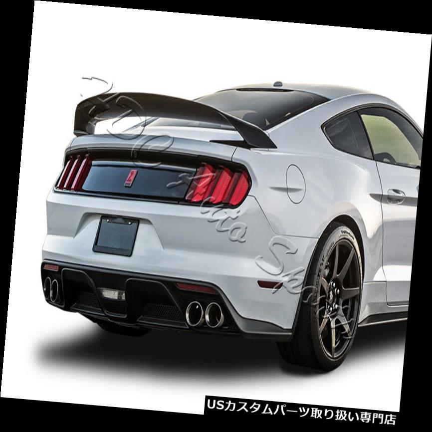 GTウィング 15-18フォードマスタングGT350 GT350Rスタイル塗装ブラックABSリアトランクスポイラー For 15-18 Ford Mustang GT350 GT350R Style Painted Black ABS Rear Trunk Spoiler