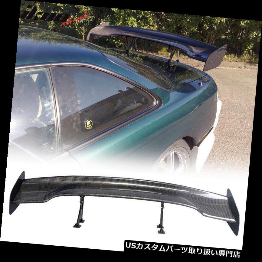 GTウィング 57インチJDM GT RSタイプカーボンファイバーデッキトランクスポイラーウィング(日産) Fits 57 Inch JDM GT RS Type Carbon Fiber Deck Trunk Spoiler Wing(Nissan)