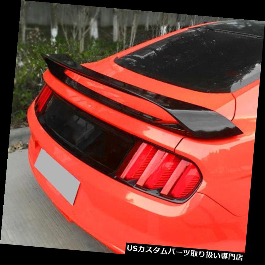GTウィング カーボン繊維の後部トランクのスポイラーの翼は2015-2017年のフォードマスタングGT H UZのために合います Carbon Fiber Rear Trunk Spoiler Wing Fits For 2015-2017 Ford Mustang GT H UZ
