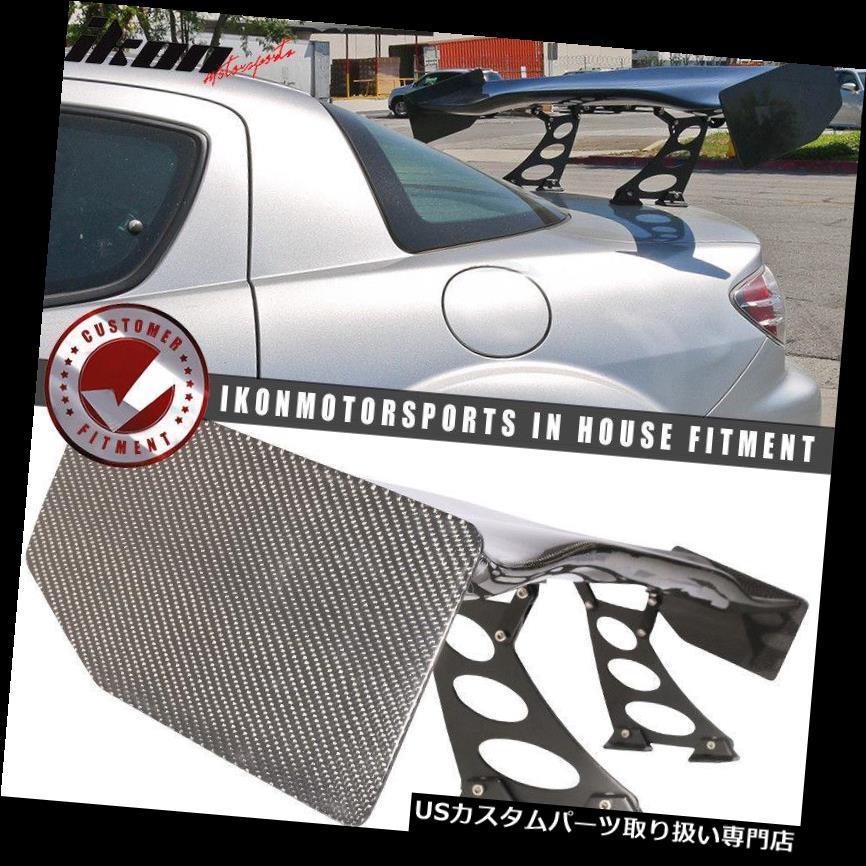 GTウィング 56 in V4ユニバーサルアジャスタブルダウンフォースGTトランクスポイラーウイング - カーボンファイバーCF 56 In V4 Universal Adjustable Downforce GT Trunk Spoiler Wing - Carbon Fiber CF
