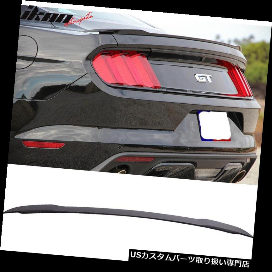 GTウィング 15-19マスタングGTファクトリースタイル塗装済みマットブラックリアABSトランクスポイラーにフィット Fits 15-19 Mustang GT Factory Style Painted Matte Black Rear ABS Trunk Spoiler
