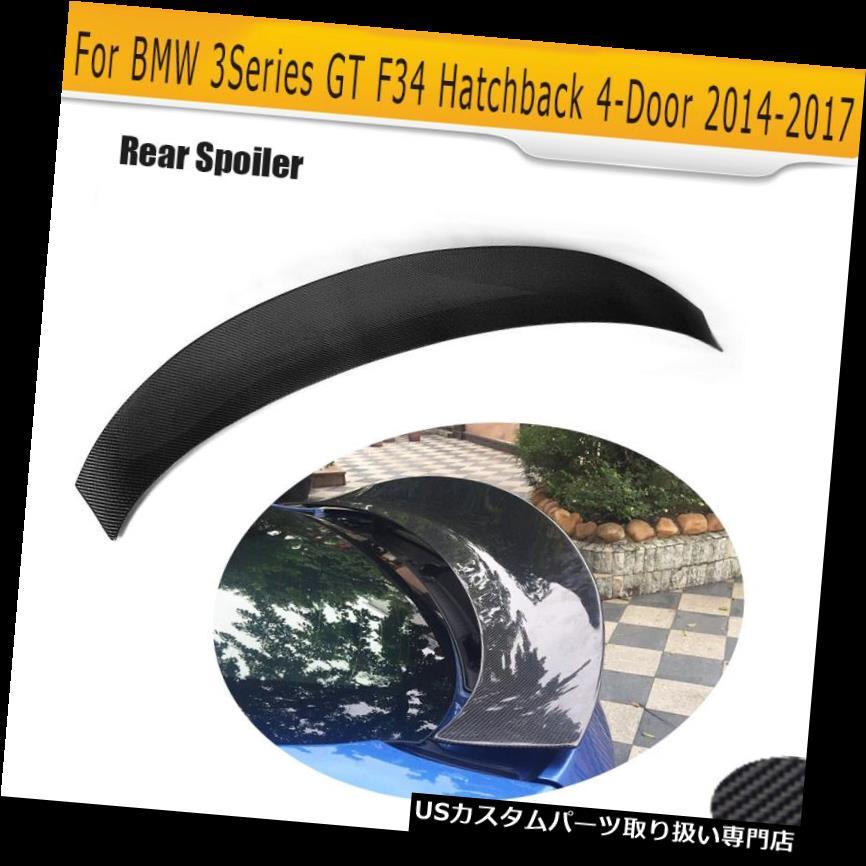 GTウィング BMW F34 GT 328i 330i 335i 340i用カーボンリアブートスポイラーフィットハッチバック14-17 Carbon Rear Boot Spoiler Fit for BMW F34 GT 328i 330i 335i 340i Hatchback 14-17