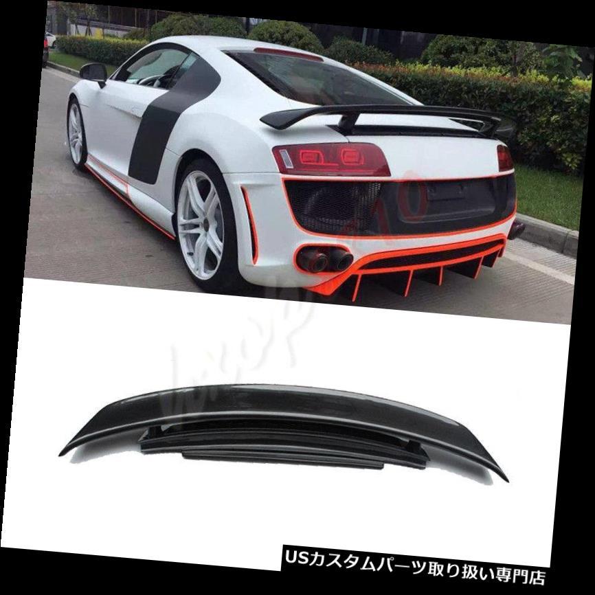 GTウィング 1PカーボンファイバーリアトランクスポイラーウイングフィットアウディR8はGT 2008-14を変更します 1P Carbon Fiber Rear Trunk Spoiler Wing Fit For Audi R8 Modify GT 2008-14