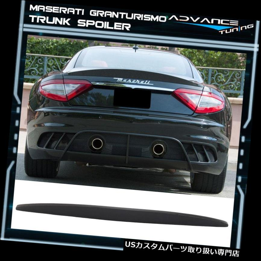 GTウィング 08-14マセラティグランツーリスモMC GT S IKONスタイルトランクスポイラー未塗装 - ABS 08-14 Maserati Gran Turismo MC GT S IKON Style Trunk Spoiler Unpainted - ABS