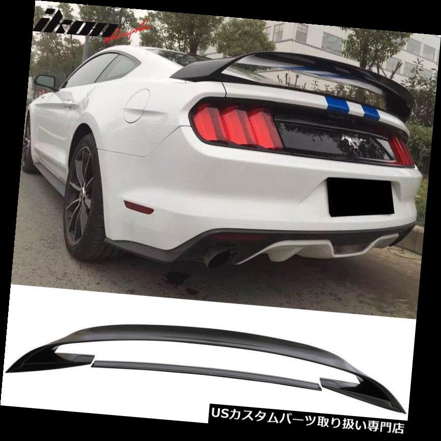 GTウィング 15-19フォードマスタングGT350 GT350Rスタイルトランクスポイラー光沢のあるブラックABSにフィット Fits 15-19 Ford Mustang GT350 GT350R Style Trunk Spoiler Glossy Black ABS
