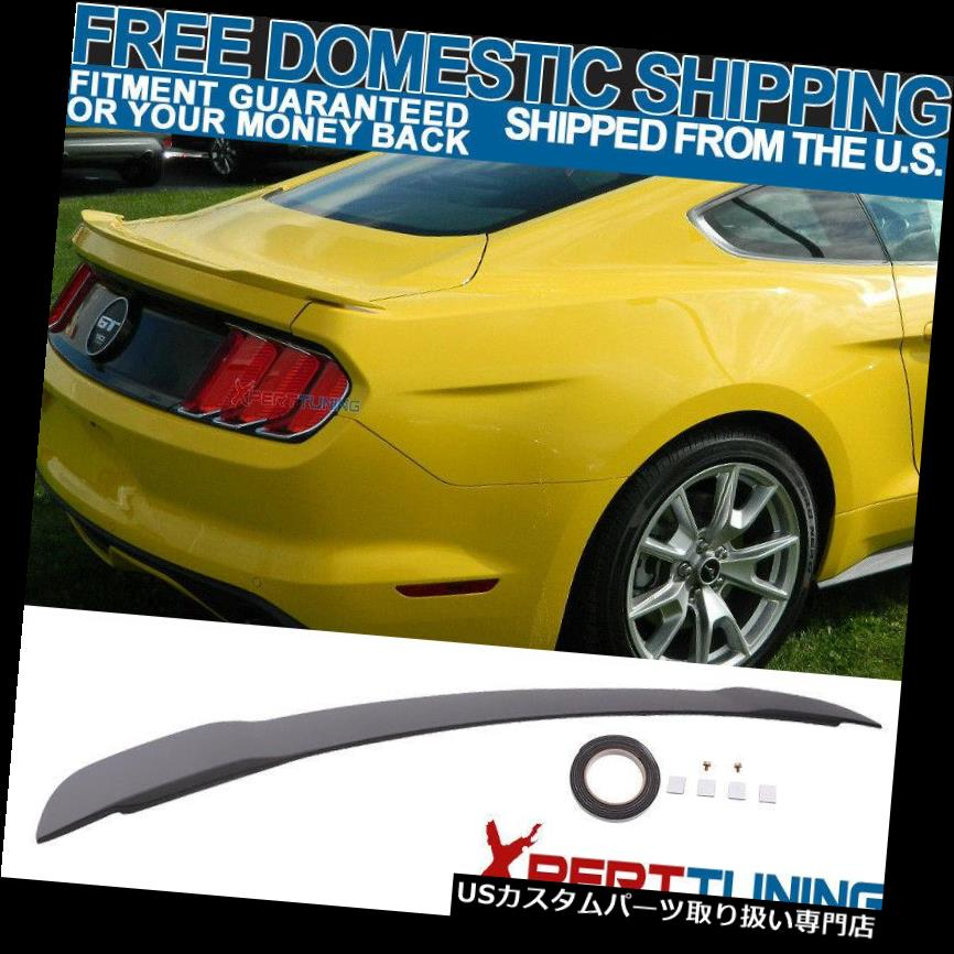 GTウィング 15-19フォードマスタングGTスタイル塗装マットブラックトランクスポイラー - ABS用 For 15-19 Ford Mustang GT Style Painted Matte Black Trunk Spoiler - ABS