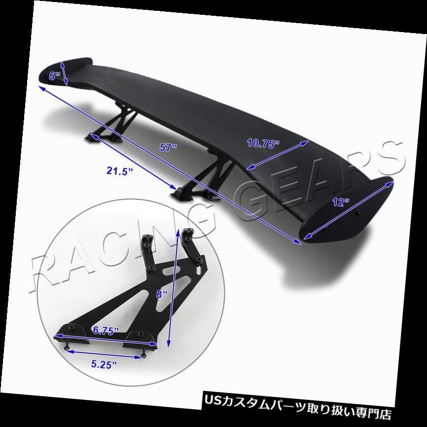 RTUNES RACING GT Type V BLACK Adjustable Aluminum Spoiler Wing For Ford