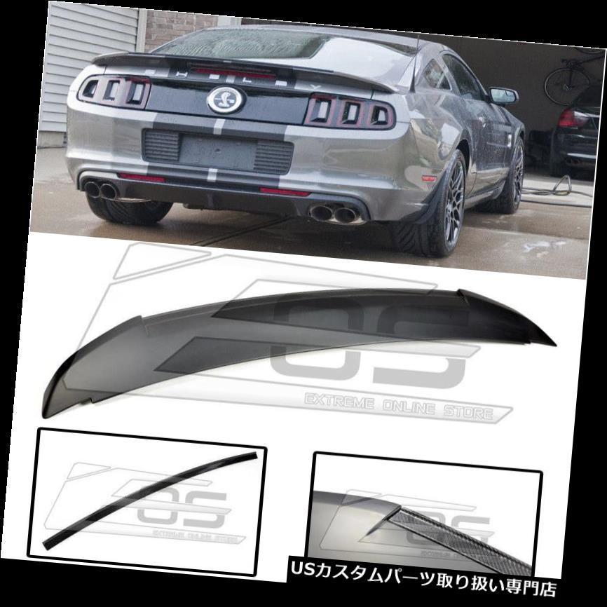GTウィング 10-14フォードマスタングGT500スタイルカーボンファイバーリアウィングスポイラーキット用 IMPERFECT For 10-14 Ford Mustang GT500 Style CARBON FIBER Rear Wing Spoiler Kit