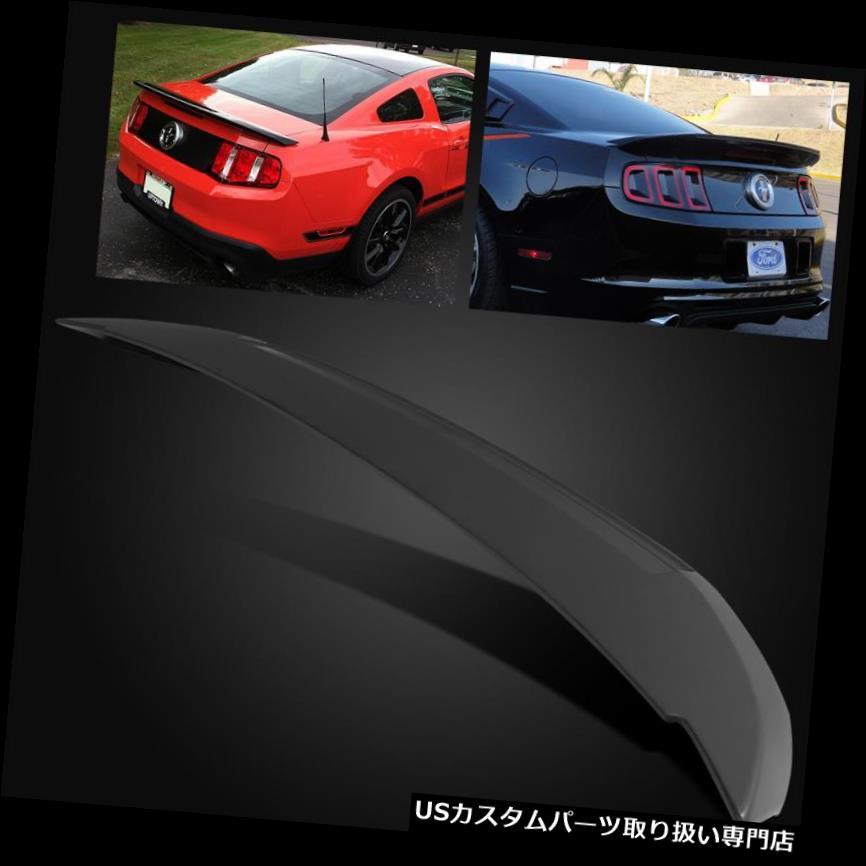 GTウィング 10-14フォードマスタングシェルビーGT500スタイルマットブラックリアトランクスポイラーウイング用 For 10-14 Ford Mustang Shelby GT500 Style Matte Black Rear Trunk Spoiler Wing