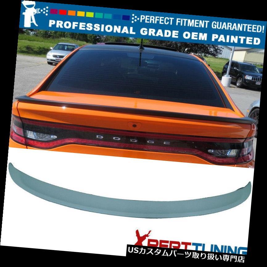 GTウィング フィット13-16ダッジダートセダンOE工場塗装トランクスポイラー - OEM塗装色 Fits 13-16 Dodge Dart Sedan OE Factory Painted Trunk Spoiler - OEM Painted Color