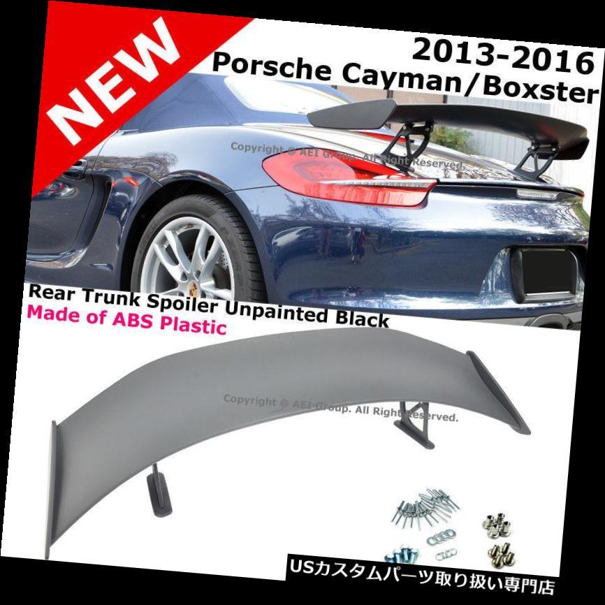 GTウィング 13-16ポルシェ981ボクスター用 ケイマンGT4スタイルABSリアトランクウィングスポイラーリップ For 13-16 Porsche 981 Boxster & Cayman GT4 Style ABS Rear Trunk Wing Spoiler Lip