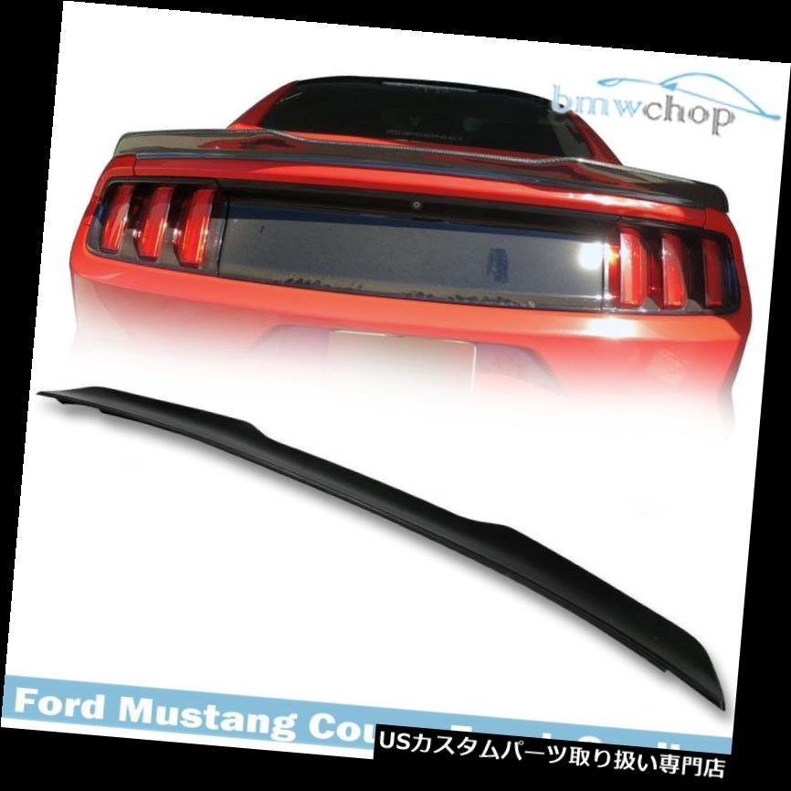 GTウィング 未塗装フォードマスタング6th GT GT350 2DR V型リアトランクスポイラーウイング2017 Unpainted Ford Mustang 6th GT GT350 2DR V-Type Rear Trunk Spoiler Wing 2017
