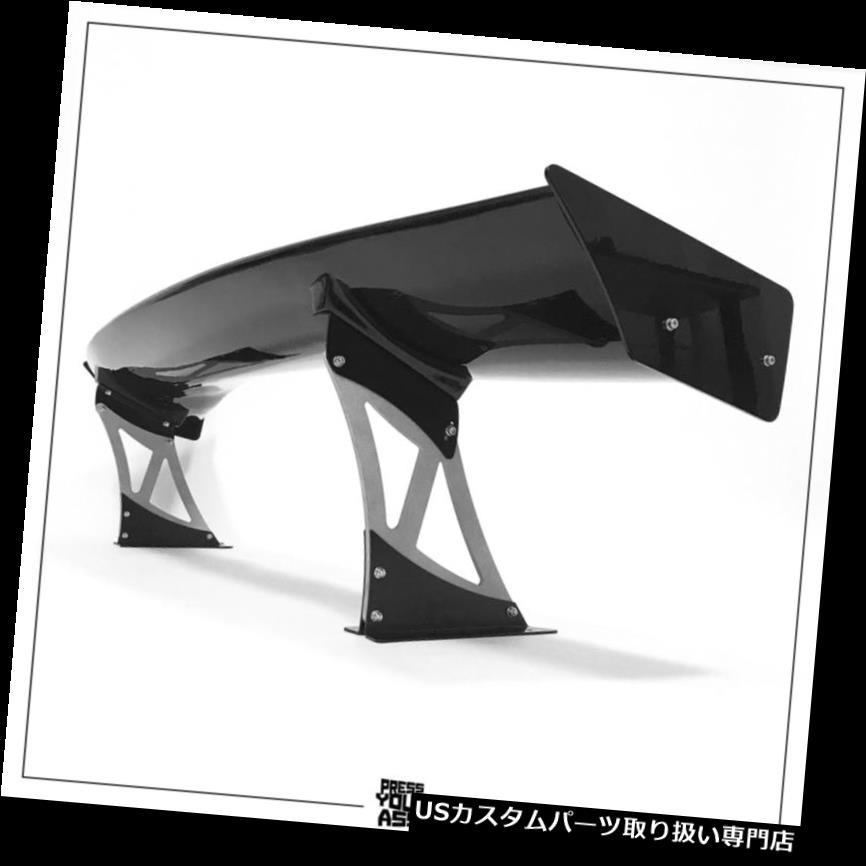 GTウィング グレースタンド付きカスタムセットスポイラーベンチgtウイングKINK STYLE黒光沢ブレード Custom set spoiler bench gt wing KINK STYLE black glossy blade with gray stands