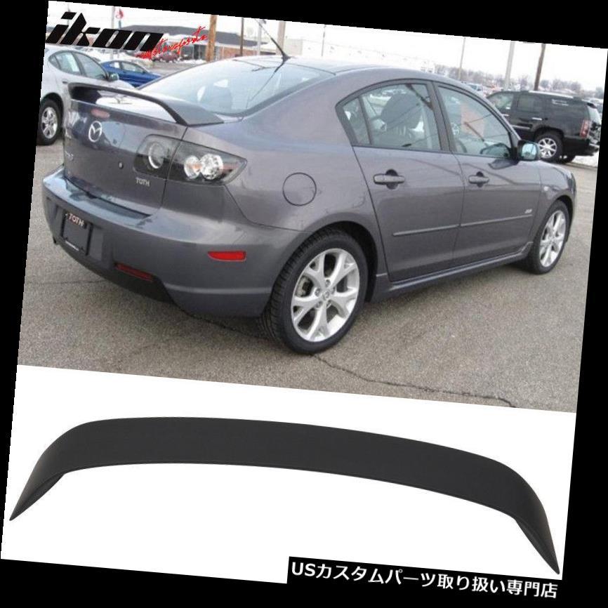 GTウィング 適合03-09マツダ3マツダ3 4DoorセダントランクスポイラーウイングプライマーマットブラックABS Fits 03-09 Mazda 3 Mazda3 4Door Sedan Trunk Spoiler Wing Primer Matte Black ABS