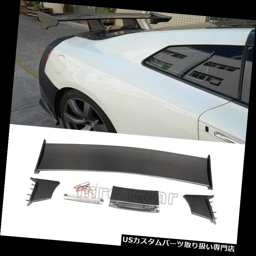 GTウィング 日産R35 GT-R GTR用カーボンファイバーGTR NISMOリアトランクウイングスポイラー2009-15 Carbon Fiber GTR NISMO Rear Trunk Wing Spoiler for Nissan R35 GT-R GTR 2009-15