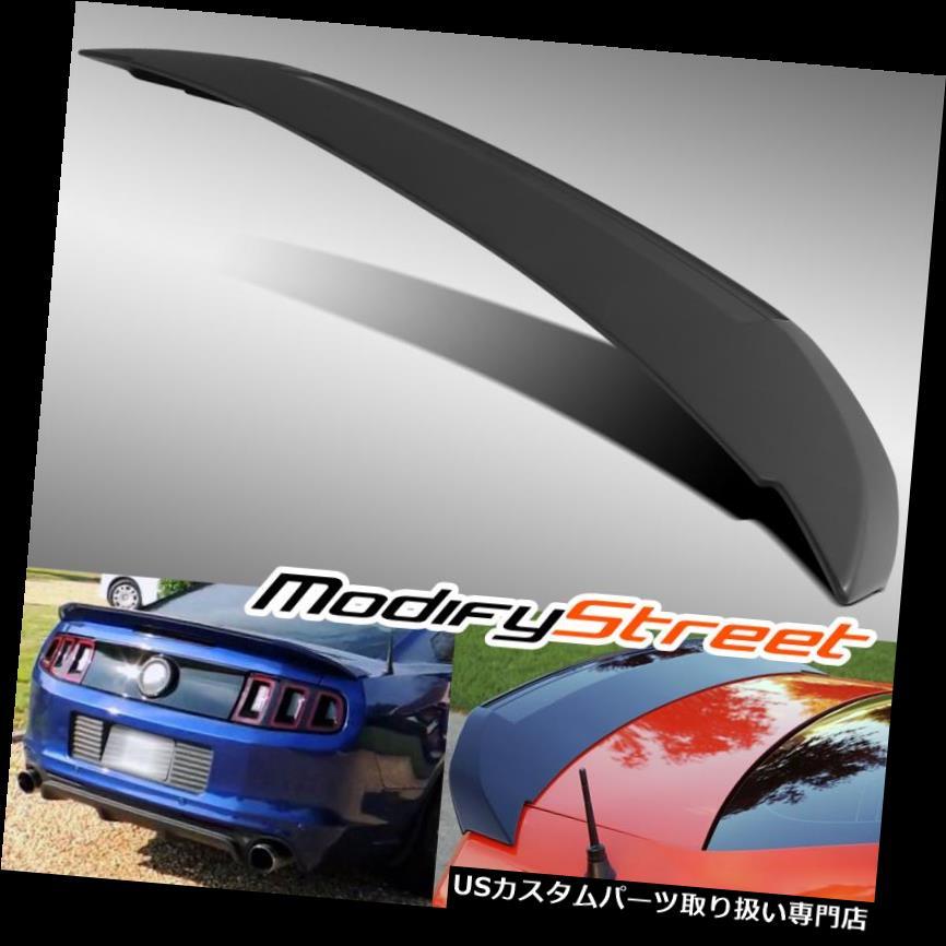 GTウィング 10 - 14フォードマスタングのためのGTスタイルプライムブラックABSプラスチック製の後部トランクスポイラーウィング GT STYLE PRIMED BLACK ABS PLASTIC REAR TRUNK SPOILER WING FOR 10-14 FORD MUSTANG
