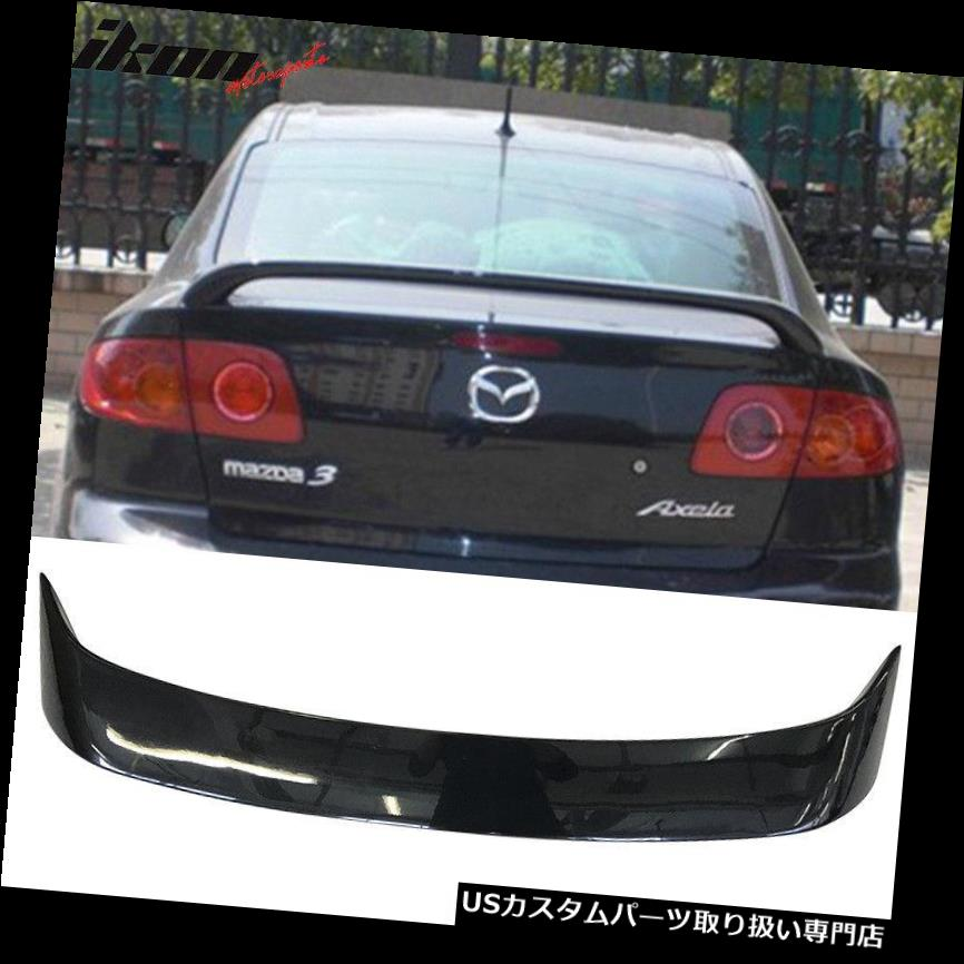 US GTウィング 04-09マツダ3セダンOEファクトリースタイルトランクスポイラー塗装#16Wブラックマイカ Fits 04-09 Mazda 3 Sedan OE Factory Style Trunk Spoiler Painted #16W Black Mica