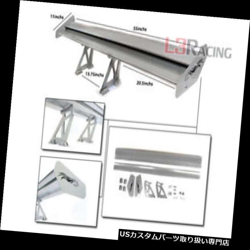 GTウィング RTUNES RACING GT Type V SILVER調節可能なアルミスポイラーウィングフィットスバル RTUNES RACING GT Type V SILVER Adjustable Aluminum Spoiler Wing Fit For Subaru