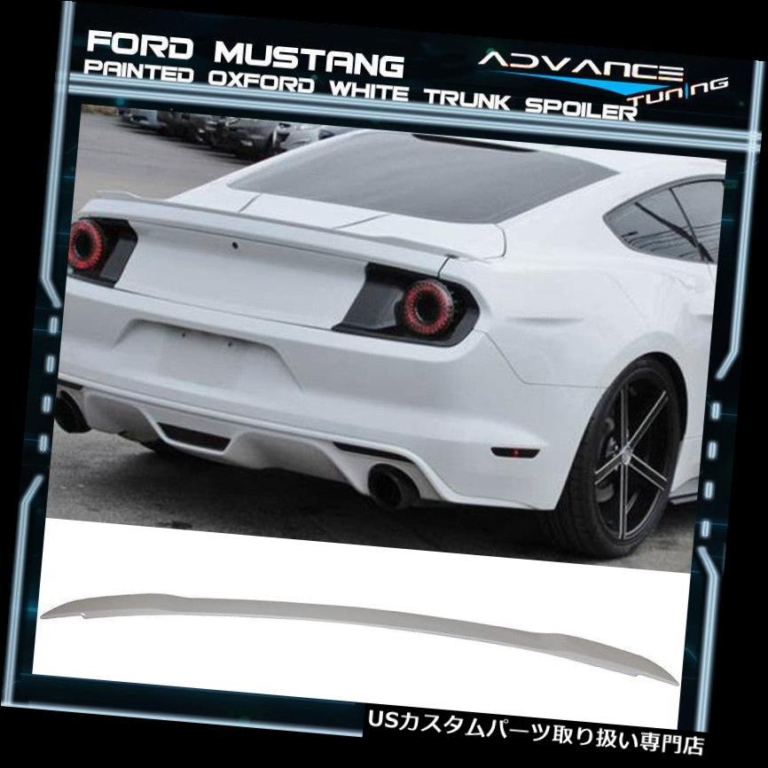 GTウィング 15-19フォードマスタングGTトランクスポイラーOEM塗装色オックスフォードホワイト 15-19 Ford Mustang GT Trunk Spoiler OEM Painted Color Oxford White