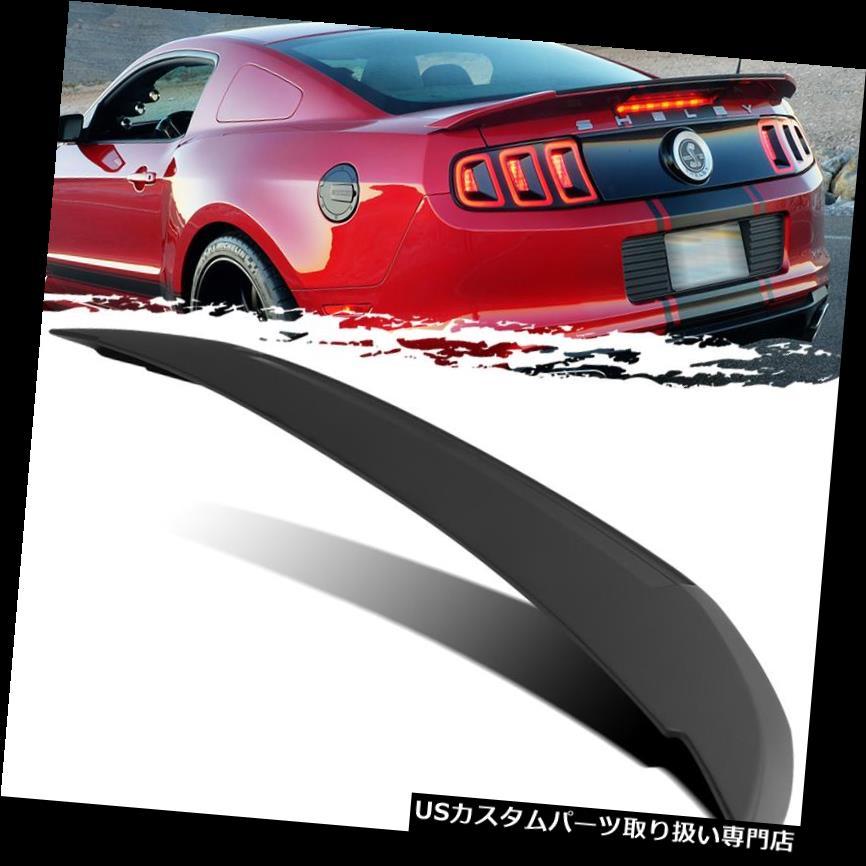 GTウィング 10-14フォードマスタングシェルビーGT500スタイル未塗装トランクデッキリッドスポイラーウイング用 For 10-14 Ford Mustang Shelby GT500 Style Unpainted Trunk Deck Lid Spoiler Wing