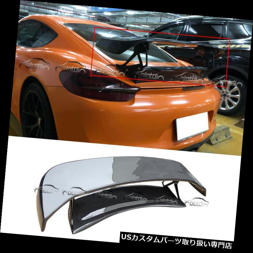 GTウィング TechArtスタイルGTリアスポイラーウィングカーボンファイバーforポルシェボクスター981 13-14 TechArt Style GT Rear Spoiler Wing Carbon Fibre for Porsche Boxster 981 13-14