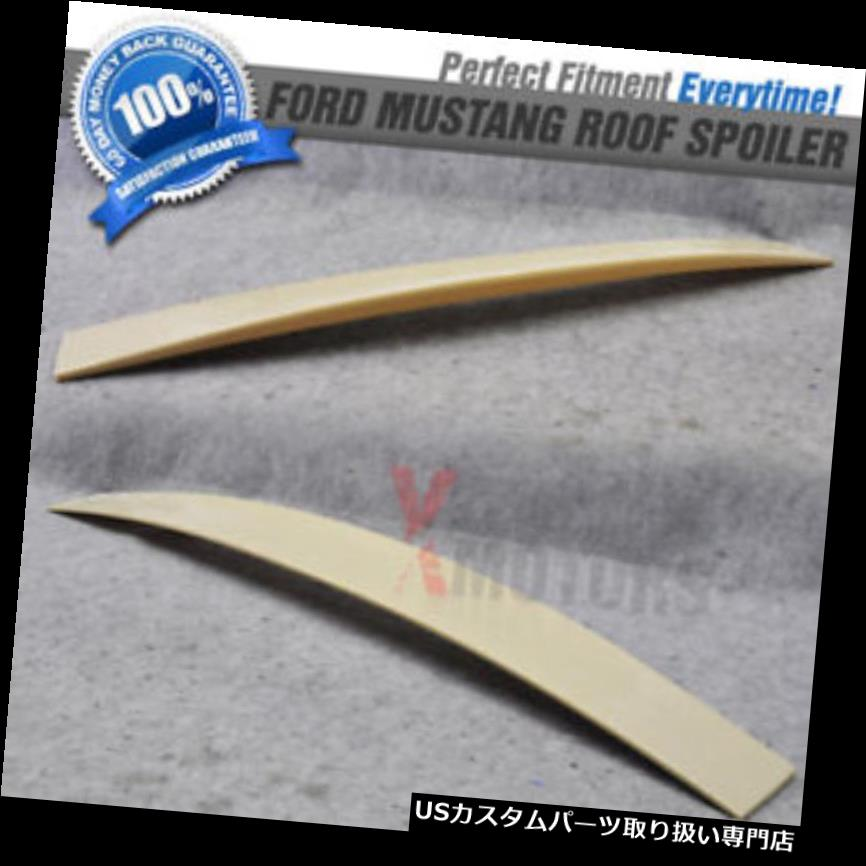 GTウィング 05-14フォードマスタング2DrクーペABSリアルーフスポイラーウイング未塗装 05-14 Ford Mustang 2Dr Coupe ABS Rear Roof Spoiler Wing Unpainted