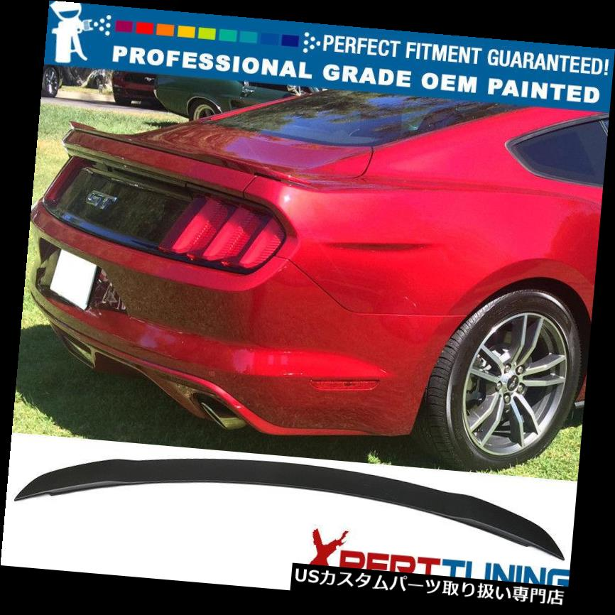 GTウィング 15-19フォードマスタングGT工場塗装ABSトランクスポイラー - OEM塗装色 15-19 Ford Mustang GT Factory Painted ABS Trunk Spoiler - OEM Painted Color