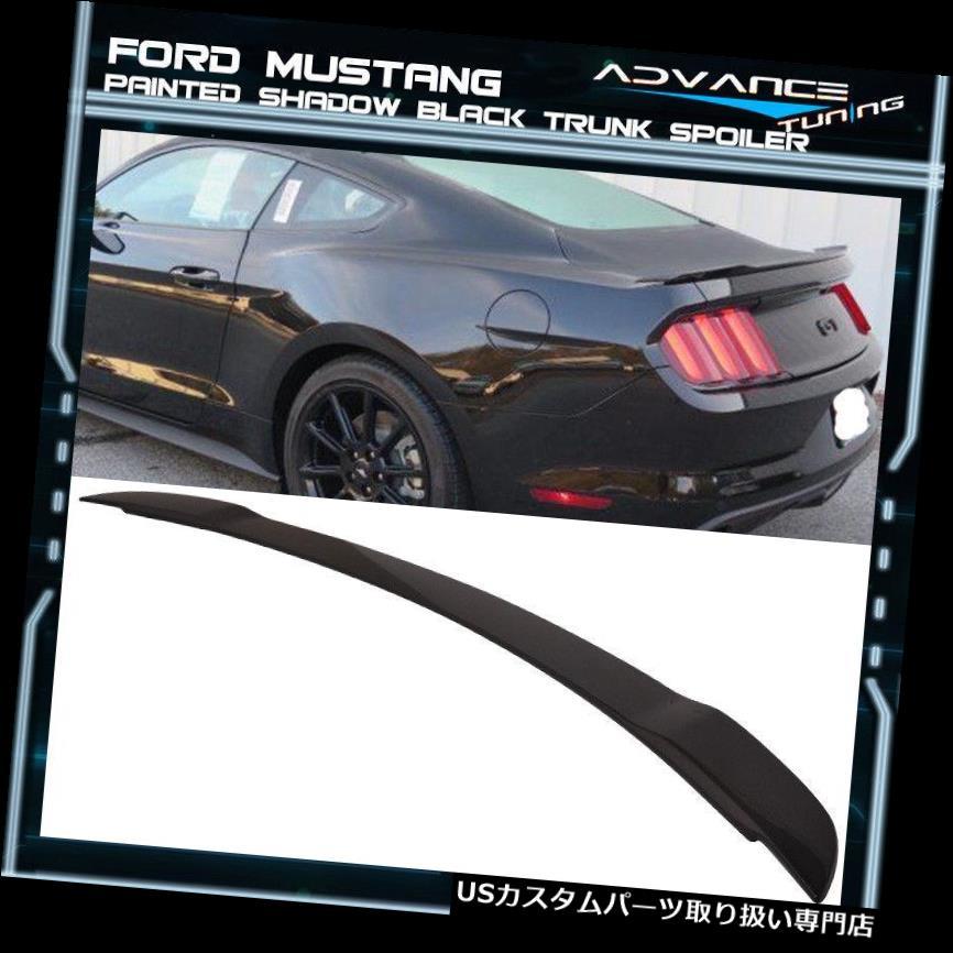 GTウィング 15-19フォードマスタングGTファクトリートランクスポイラーOEM塗装カラーシャドウブラック 15-19 Ford Mustang GT Factory Trunk Spoiler OEM Painted Color Shadow Black