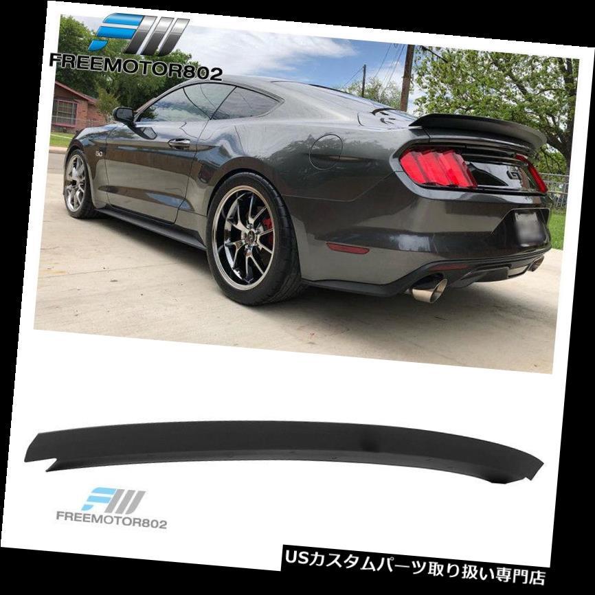 GTウィング 15-19フォードマスタングRスタイルリアトランクスポイラーウィングフタマットブラックABSにフィット Fits 15-19 Ford Mustang R style Rear Trunk Spoiler Wing Lid Matte Black ABS