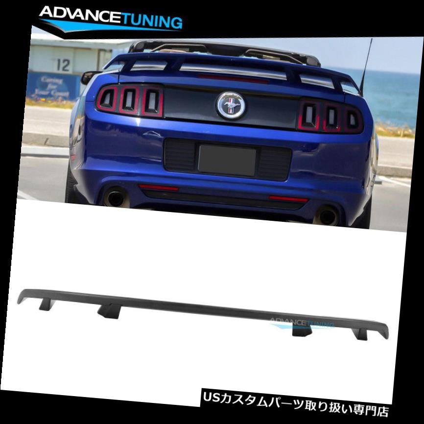 GTウィング 10-14フォードマスタングLSスタイルトランクスポイラーウィングマットブラック - ABSにフィット Fits 10-14 Ford Mustang LS Style Trunk Spoiler Wing Matte Black - ABS