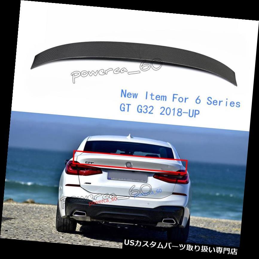 GTウィング BMW 6シリーズGT G32 630iリアスポイラーカーボンファイバーリアウイング2018用 - オン For BMW 6 Series GT G32 630i Rear Spoiler Carbon Fiber Rear Wing 2018 - On