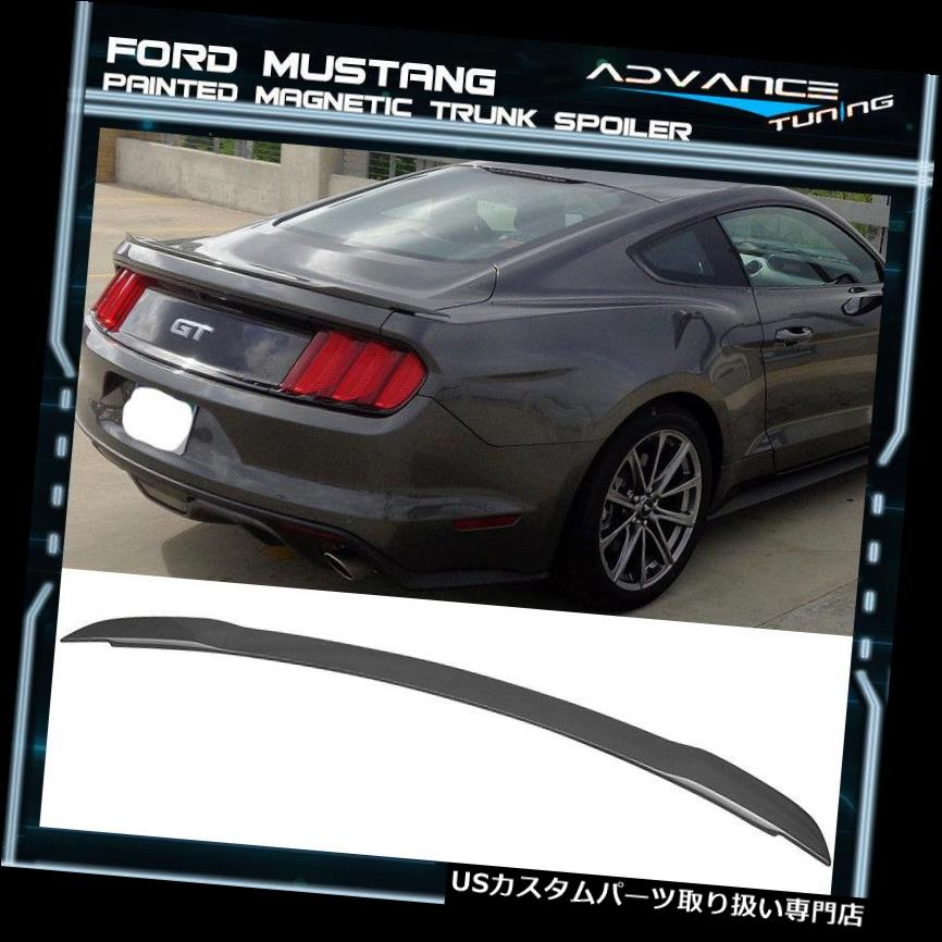 GTウィング 15-19フォードマスタングGTスタイルトランクスポイラーOEM塗装色磁気ABS 15-19 Ford Mustang GT Style Trunk Spoiler OEM Painted Color Magnetic ABS